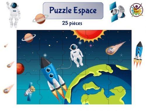 puzzle à imprimer espace