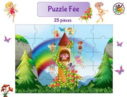 puzzle à imprimer fée