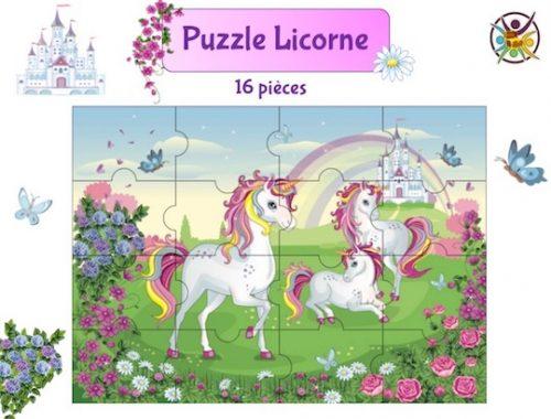 Puzzle à imprimer licorne