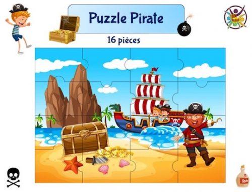 puzzle à imprimer pirate