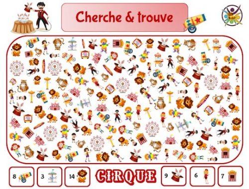 Cherche et trouve Cirque