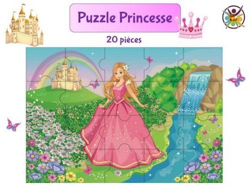 puzzle à imprimer princesse