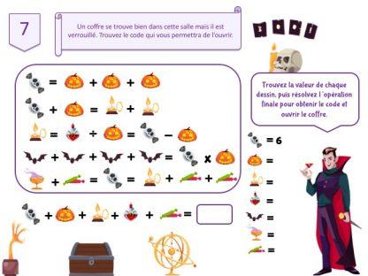 code secret pour escape game Dracula pour Halloween