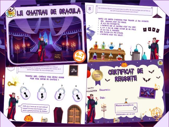 jeu d'escape game pour Halloween à imprimer