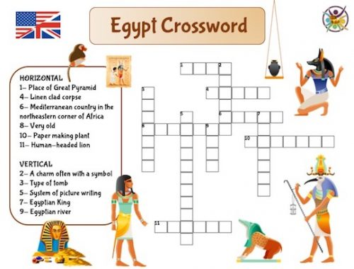 mots croisés Égypte en anglais