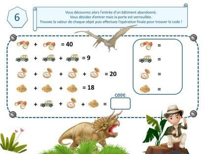 code secret pour escape game dinosaure