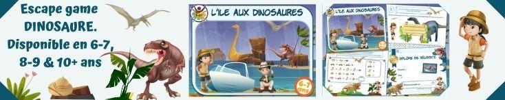 escape game dinosaure à imprimer