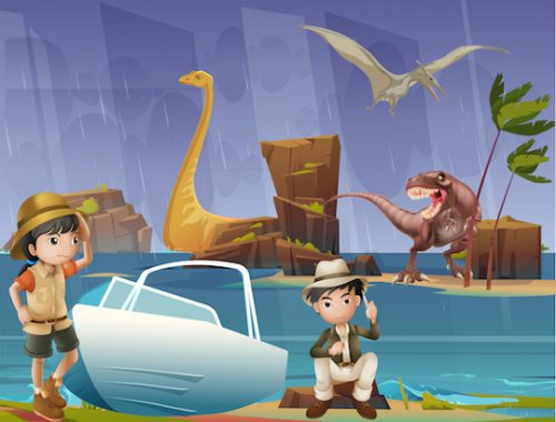 escape game Jurassic park 8-9 ans