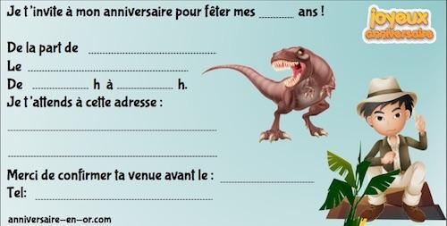 Invitation escape game Jurassic park