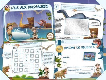 Kit de jeu d'évasion thème dinosaure à imprimer
