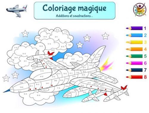 Coloriage magique Avion