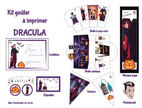 décoration Vampire à imprimer