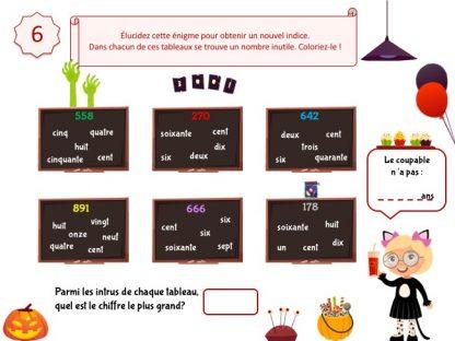 énigme à résoudre pour Halloween