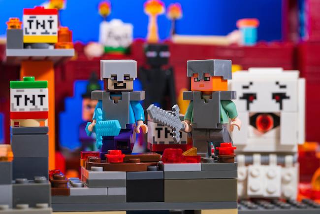 Jeux pour anniversaire Minecraft