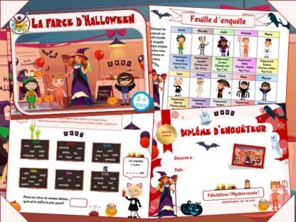 Kit d'énigme policière à imprimer pour Halloween
