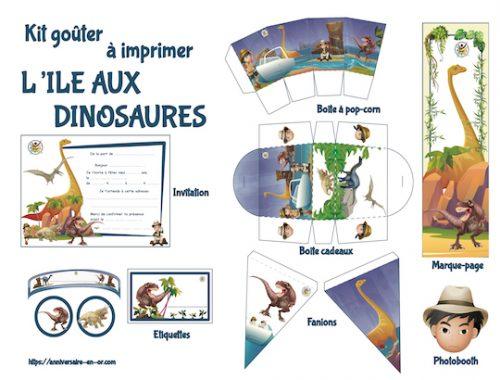 kit goûter thème dinosaure : décoration anniversaire à imprimer