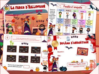 Kit de jeu d'enquête pour enfants sur le thème d'Halloween