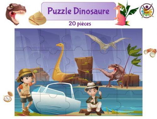 puzzle à imprimer dinosaure