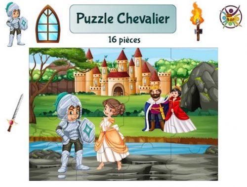 puzzle à imprimer chevalier