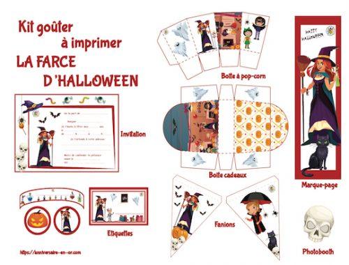 Kit de décoration à imprimer du jeu la farce d'Halloween